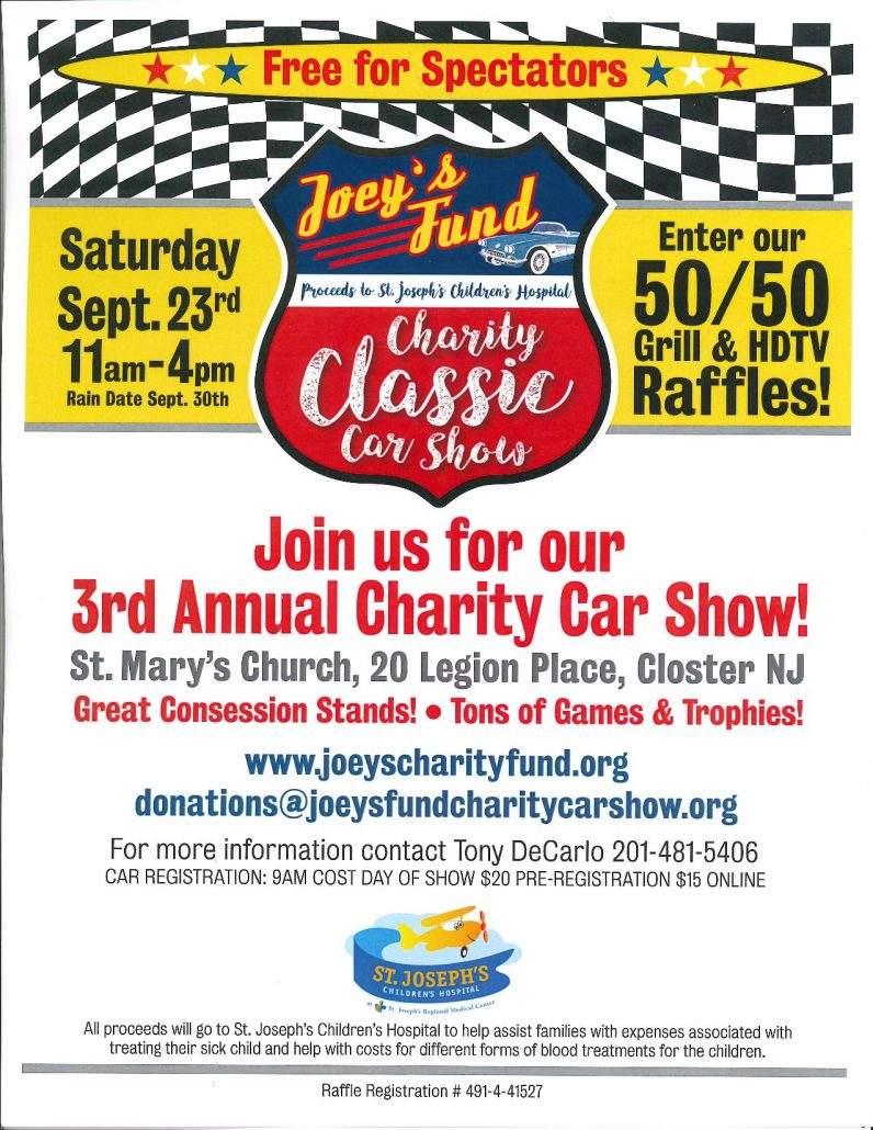 Joey s fund charity classic car show 2019 closter nj car - F und s polstermobel ...
